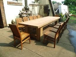 round wood patio table great nice custom teak furniture large outdoor table plans in teak dining