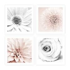 blush pink grey wall art set of 4 piece