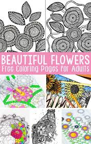 Small Picture Free Printable Flower Coloring Pages for Adults Easy Peasy and Fun