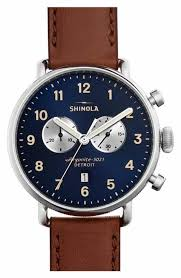men s luxury watches nordstrom shinola the canfield chrono leather strap watch 43mm