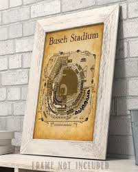 Busch Stadium Seating Chart Art Print 11x14 Unframed Art Print Great Sports Bar Decor And Gift For Baseball Fans