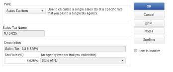 Nj Sales Tax Decrease For 2018 Quickbooks Instructions