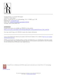 Pdf Lineage Theory A Critical Retrospect