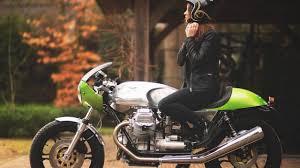 wonderful green moto guzzi le mans 850