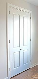 how to turn a bi fold door into french doors diy closet door makeover bifold french