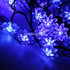 battery powered indoor lighting. Qurosy String Lights Battery Operated Lotus Flower Fairy 40 Blue For Indoor Outdoor-in Holiday Lighting From \u0026 On Aliexpress.com Powered D