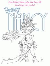 Small Picture Fancy Nancy In High Heels Dancing Coloring Home