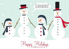 Holidays Snowman Holiday Snowman Teamwork Christmas Greeting Cards By Cardsdirect