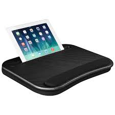Lapgear Smart E Lap Desk Black Carbon Fits Up To 15 6 Inch Laptops And Most Tablet Devices Style No 91338