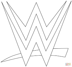 Small Picture WWE Logo coloring page Free Printable Coloring Pages