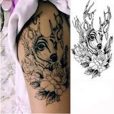 Amazoncom Gainvictorlf Tattoo Stickers Men Women Deer Flower Arm