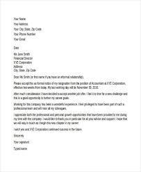 Job Resignation Letter Template Business