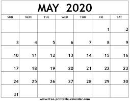 April May 2020 Calendar Printable May 2020 Printable Calendar Free Printable Calendar Com