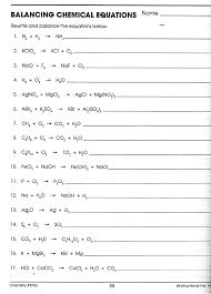 balancin gchemical equations