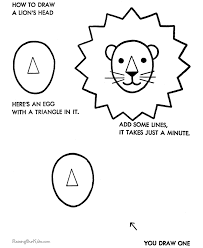 lion face drawing for kids. Modren Face Simple Drawings For Kids  How To Draw A Lion Inside Lion Face Drawing For Kids I