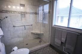 bathroom remodel gray. Dreammaker Bathroom Remodel Gray And White Tile Cabinetry Shower Vanity