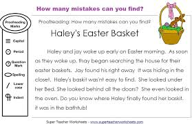 Easter Editing Activity: How many mistakes can you find in this ...
