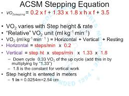 17 acsm stepping equation
