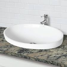 decolav bathroom sinks classically redefined incandescence delphine semi recessed oval bathroom sink
