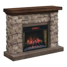 full image for grand canyon in stacked stone infrared electric fireplace cabinet mantel package wm9185 look