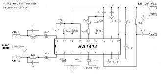 fm transmitter circuits ba1404 stereo fm transmitter circuit schematic
