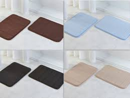 2 pack soft 17 x 24inch bathroom mat memory foam bath rug memory foam bath rug