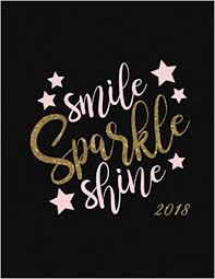Smile Sparkle Shine 40 Inspirational Quote Weekly Monthly Planner Stunning Sparkle Quotes