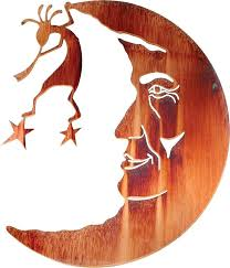 metal moon wall art astonishing sun man in the southwest rustic
