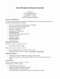 Front Desk Receptionist Resume Sample 60 Front Desk Receptionist Cover Letter Best of Resume Example 40
