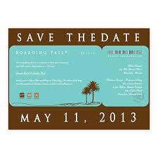 Wedding Invitations Boarding Pass Save The Date Custom Color