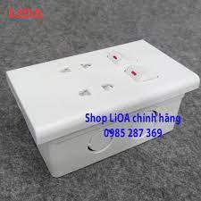 [Lắp âm tường] Combo ổ cắm điện đôi 2 chấu 16A (3520W) + 2 công tắc điện LiOA  Âm tường