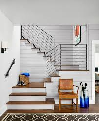 Staircase Railing Ideas austin stair railing ideas staircase farmhouse with framed artwork 3406 by xevi.us