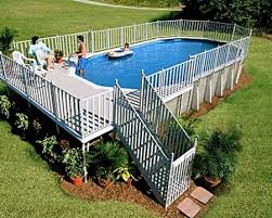 above ground pool with deck and hot tub. An Above-ground Pool Design Above Ground With Deck And Hot Tub E