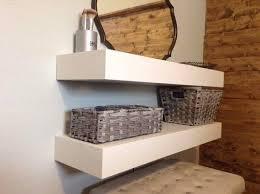 free white floating shelves