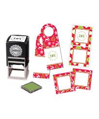 Three Designing Women Certificate Three Designing Women Red Holiday Stationery Custom Stamp Set