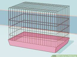 image titled set up a rabbit cage step 4