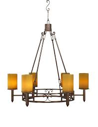 mission forge chandelier with mini crosses 2