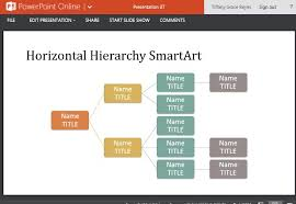 Free Hierarchy Chart Organizational Chart Template For Powerpoint Online