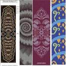 Двойное мозаичного плетения