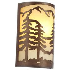 hampton bay 1 light natural antler sconce with sunset glass shade