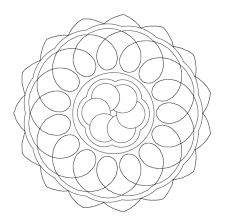 Small Picture Mandala Coloring Pages Simple Coloring Pages