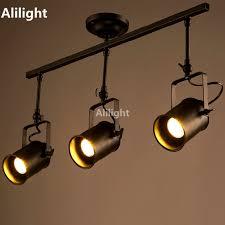 cheap vintage lighting. retro loft vintage led track light industrial lamp bar clothing personality rail three heads cheap lighting d