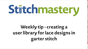Stitchmastery Knitting Chart Editor Creating A User Library For Lace Designs In Garter Stitch Stitchmastery Weekly Tip