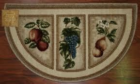 19x32 slice wedge kitchen rug mat beige tan washable mats kitchen wedge rugs