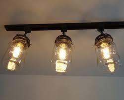 mason jar track lighting. a mason jar track light of 3 vintage quarts light fixture the track lighting