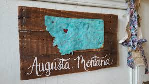 Small Picture Home State Sign Wood signs Rustic Home Decor Rustic Signs