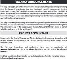 Self Help Africa Project Accountant Job Vacancies Jobspot Kenya