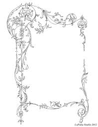 picture frame book page decoration