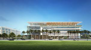 a rendering of uhealth at c gables shows the ambulatory center on poice de leon boulevard