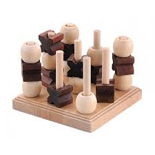 Naughts And Crosses Wooden Game Adorable 322D Noughts And Crosses Classic 322D Noughts And Crosses